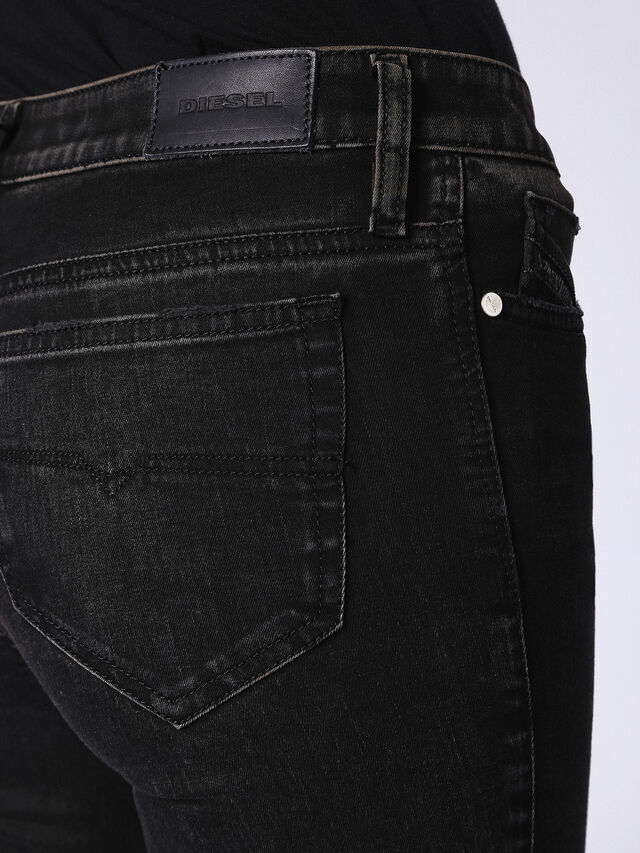 SKINZEE-ZIP 0687G, Nero Jeans