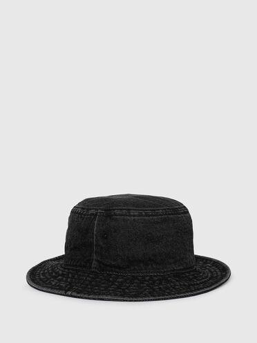 Cappello da pescatore in denim con lavaggio stonewash