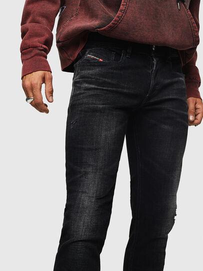 Diesel - Sleenker 0092B, Nero/Grigio scuro - Jeans - Image 3