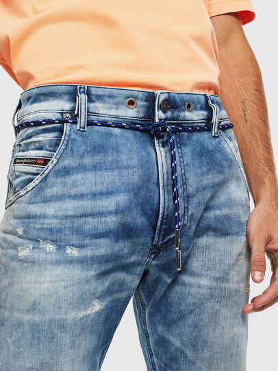Diesel - Krooley JoggJeans 0099Q, Blu medio - Jeans - Image 5