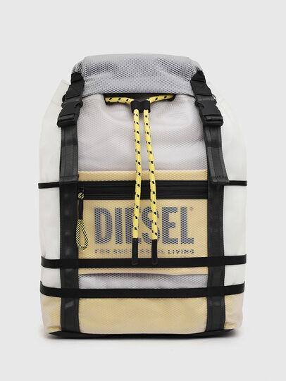 Diesel - F-SUSE BACKPCK, Bianco/Giallo - Zaini - Image 1