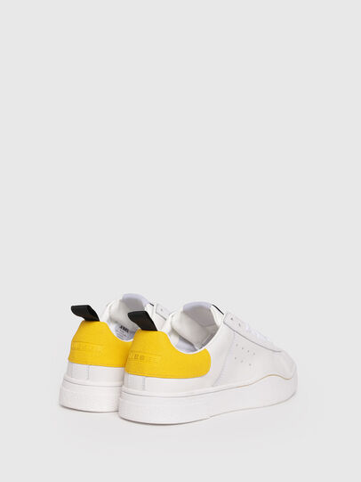 Diesel - S-CLEVER LOW W, Bianco/Giallo - Sneakers - Image 3