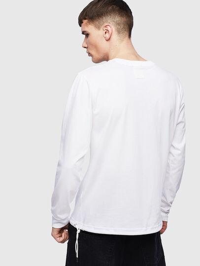 Diesel - T-HUSTY-LS, Bianco - T-Shirts - Image 3