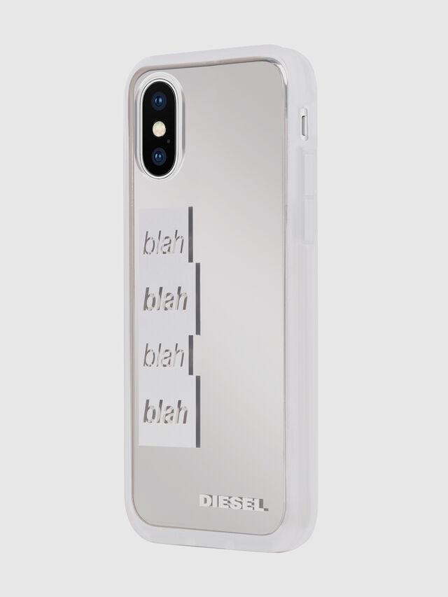 Diesel - BLAH BLAH BLAH IPHONE X CASE, Bianco/Argento - Cover - Image 6