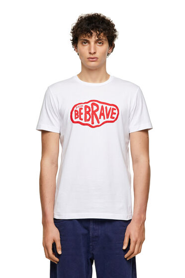 T-shirt Green Label con stampa Be Brave