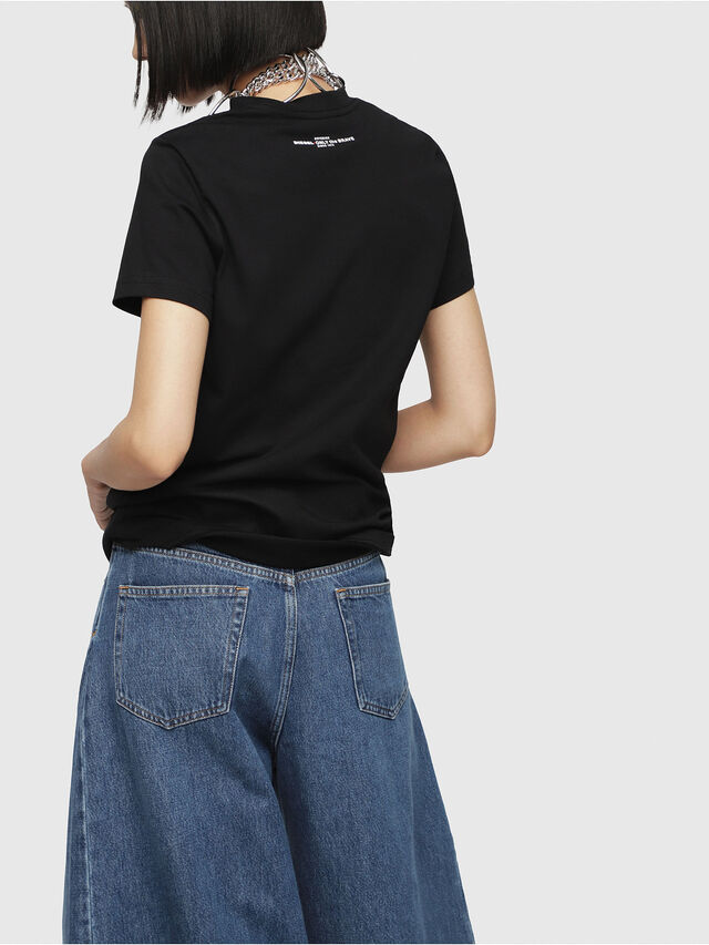 Diesel - T-SILY-WG, Nero - T-Shirts - Image 2