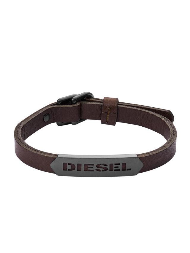 Diesel - BRACELET DX1000, Marrone - Braccialetti - Image 1