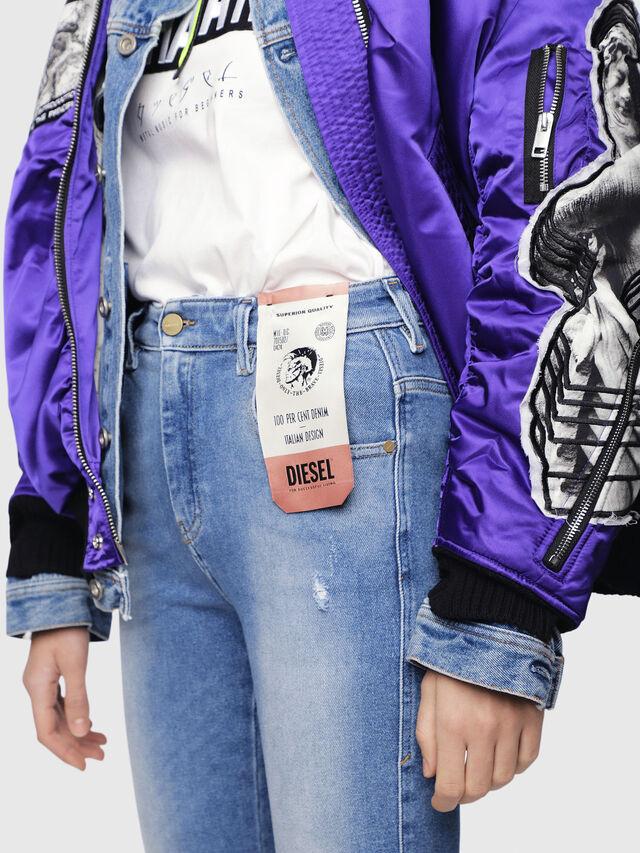Diesel - Slandy High 086AB, Blu Chiaro - Jeans - Image 4
