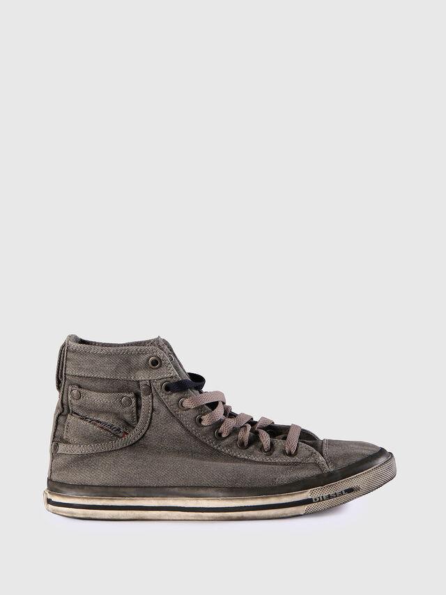 Diesel - EXPOSURE IV W, Grigio Jeans - Sneakers - Image 1
