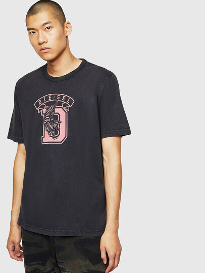 Diesel - T-JUST-B2, Nero - T-Shirts - Image 1