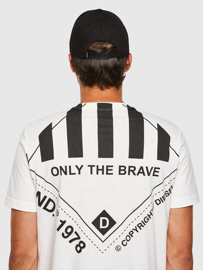 Diesel - T-JUST-N40, Bianco - T-Shirts - Image 7