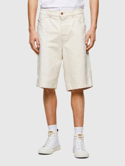 Diesel - D-FRANS-SP1, Bianco - Shorts - Image 1