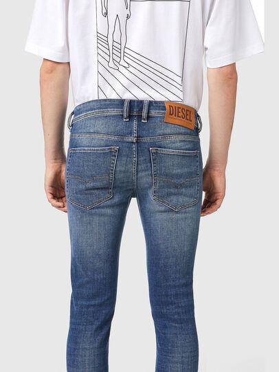 Diesel - Sleenker 09A86, Blu Chiaro - Jeans - Image 4