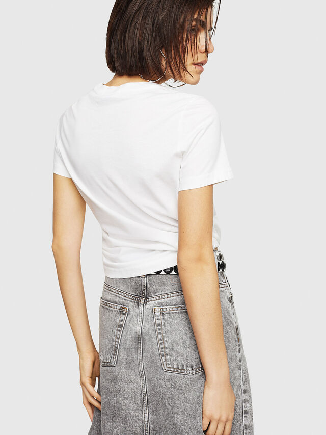 Diesel - T-SILY-C1, Bianco - T-Shirts - Image 2