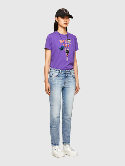 Diesel - CL-T-SILY-O, Viola - T-Shirts - Image 5