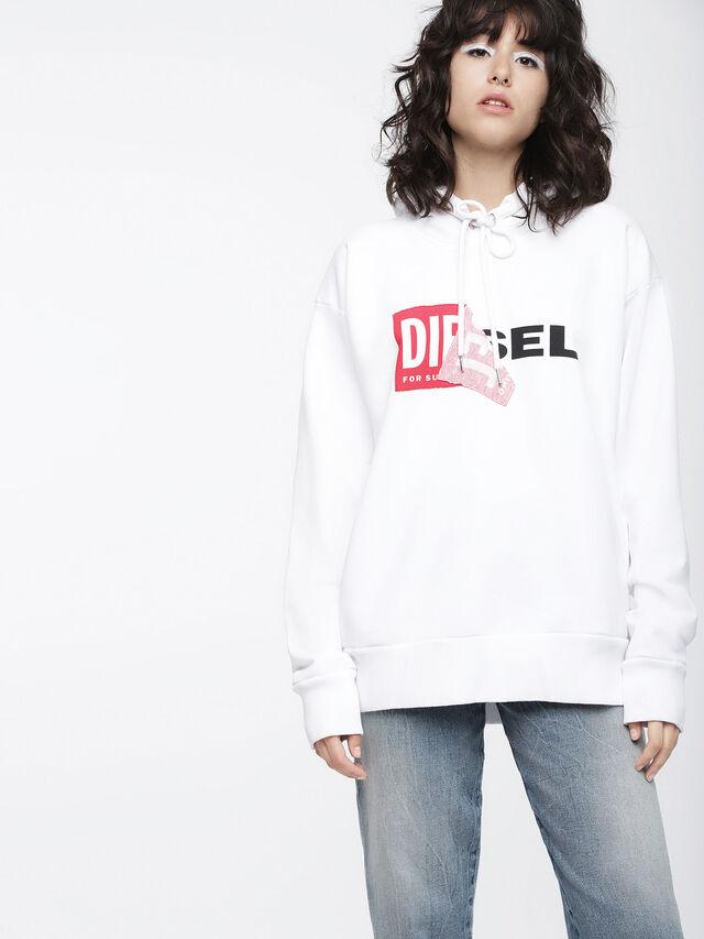 Diesel - F-ALBY-FL-A, Bianco - Felpe - Image 1