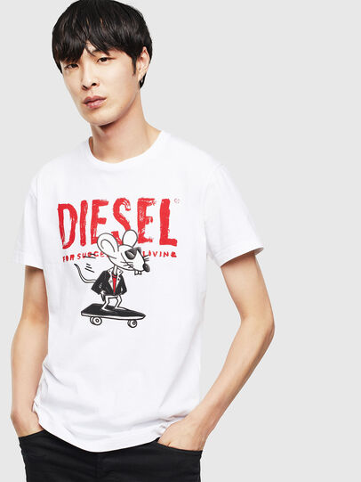 Diesel - CL-T-DIEGO-1, Bianco - T-Shirts - Image 1