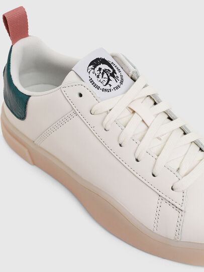 Diesel - S-CLEVER LOW LACE W, Bianco/Verde - Sneakers - Image 4