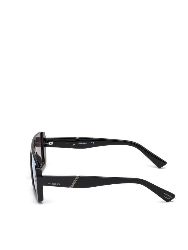 Diesel - DL0248, Nero Brillante - Occhiali da sole - Image 3
