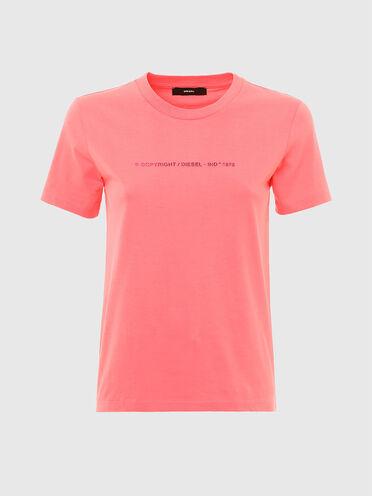 T-shirt in cotone con logo Copyright