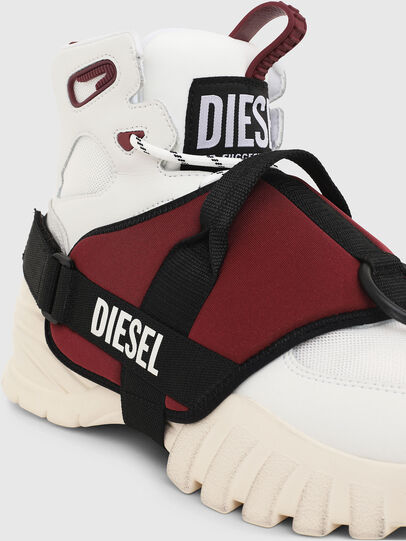 Diesel - S-SHARQUEZ MID, Bianco/Rosso - Sneakers - Image 5