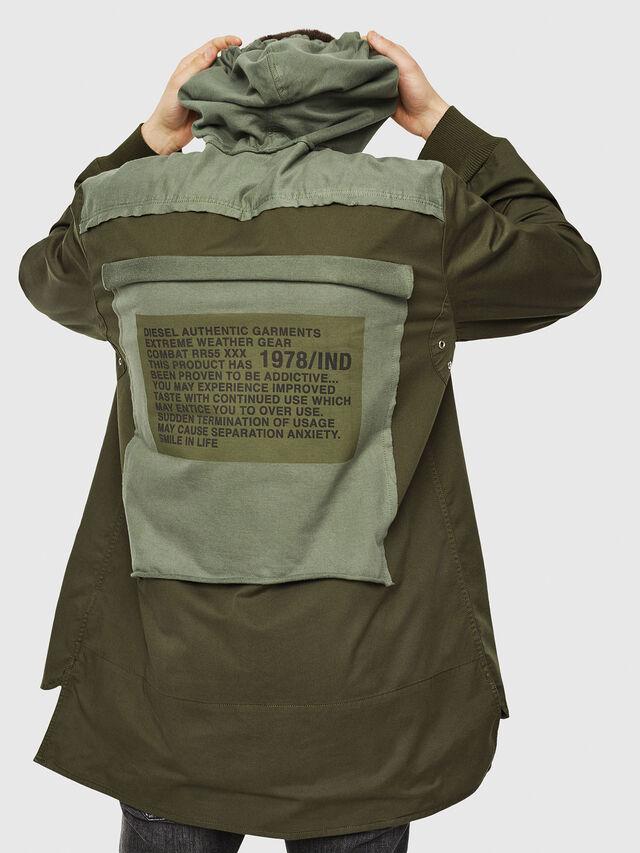 Diesel - S-EIKU, Verde Militare - Camicie - Image 2