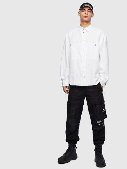 Diesel - D-FLOX, Bianco - Camicie in Denim - Image 6