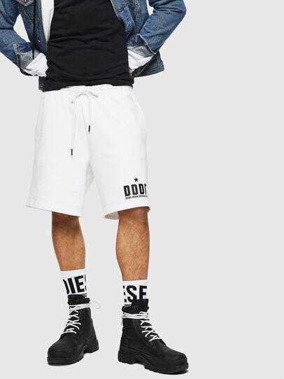 Diesel - P-ALF-SHORT, Bianco - Shorts - Image 1