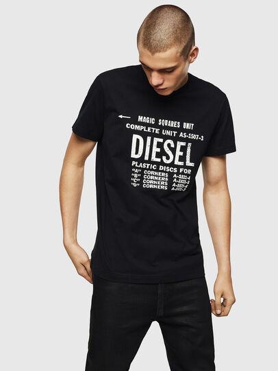 Diesel - T-DIEGO-B6, Nero - T-Shirts - Image 1