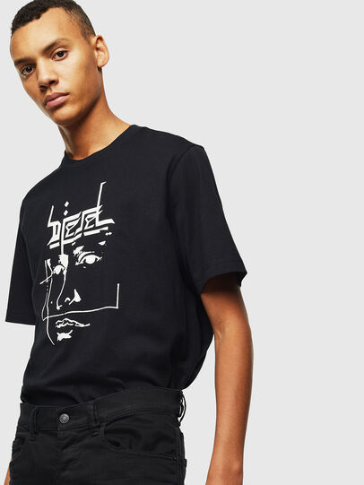 Diesel - T-JUST-J14, Nero - T-Shirts - Image 4
