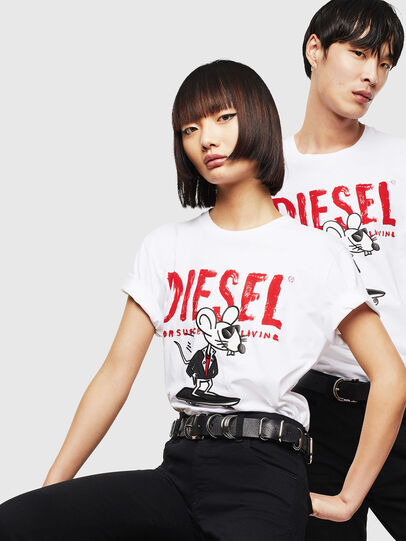 Diesel - CL-T-DIEGO-1, Bianco - T-Shirts - Image 5