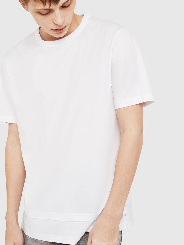Diesel - T-YORI-Y1, Bianco - T-Shirts - Image 1