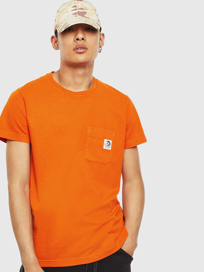 Diesel - T-WORKY-MOHI-S1, Arancione - T-Shirts - Image 1