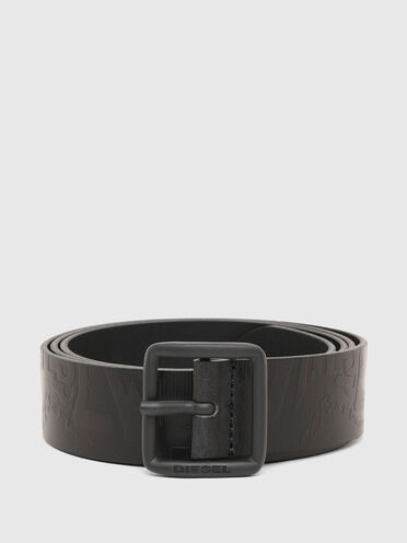 Cintura in pelle con logo impresso