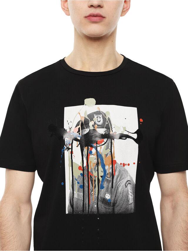 Diesel - TY-DRIPPINGSOLDIER, Nero - T-Shirts - Image 3