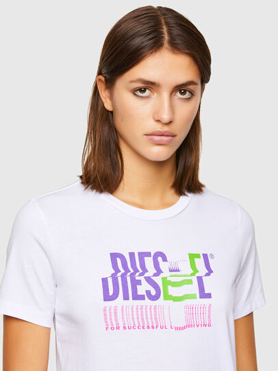 Diesel - T-SILY-K6, Bianco - T-Shirts - Image 3