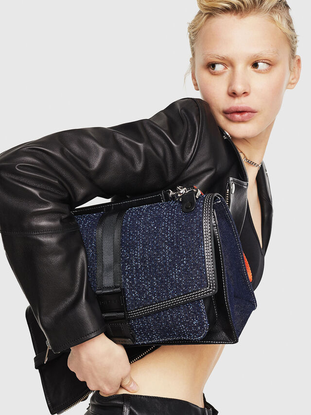 Diesel - MISS-MATCH CROSSBODY, Blu Jeans - Borse a tracolla - Image 6