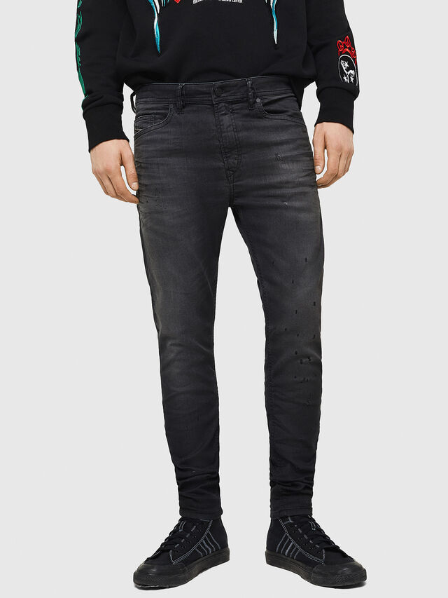 Diesel - Spender JoggJeans 069GN, Nero/Grigio scuro - Jeans - Image 1