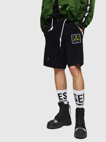 Diesel - K-ROB, Nero - Shorts - Image 1