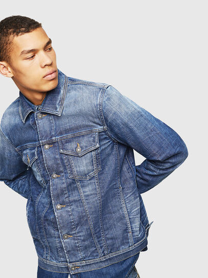 Diesel - NHILL-TW, Blu Jeans - Giacche in denim - Image 6
