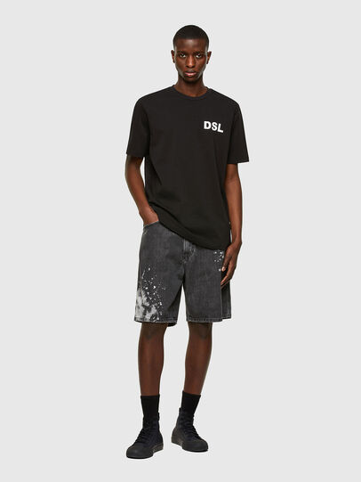 Diesel - T-JUST-E10, Nero - T-Shirts - Image 4