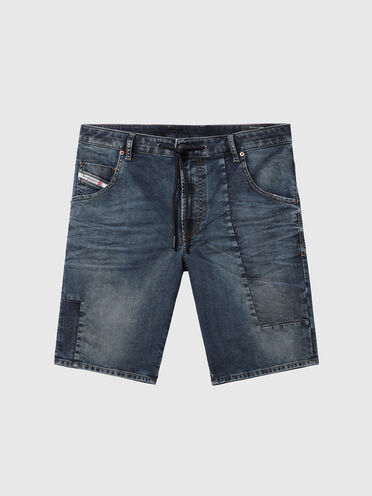 Shorts in JoggJeans effetto patchwork