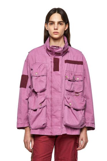 Field jacket tinta in capo