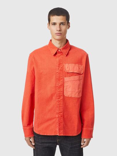 Diesel - D-HORU-SP JOGGJEANS, Arancione - Camicie in Denim - Image 1