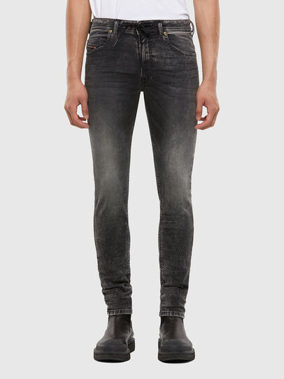 Diesel - Thommer JoggJeans® 009KC, Nero/Grigio scuro - Jeans - Image 1
