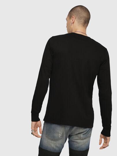 Diesel - T-JUST-LS-DIVISION, Nero - T-Shirts - Image 2