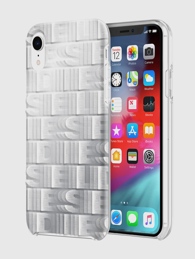 DIESEL PRINTED CO-MOLD CASE FOR IPHONE XR, Bianco - Cover