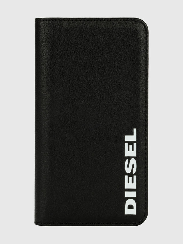 Diesel - DIESEL 2-IN-1 FOLIO CASE FOR IPHONE XR, Nero/Bianco - Cover a libro - Image 1