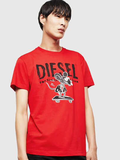 Diesel - CL-T-DIEGO-1, Rosso - T-Shirts - Image 1
