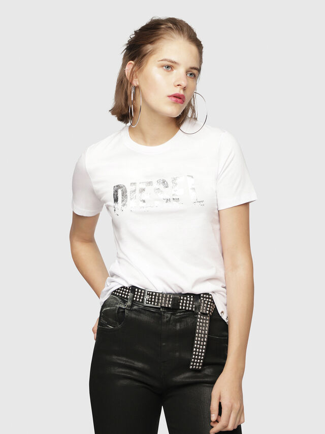 Diesel - T-SILY-WH, Bianco - T-Shirts - Image 1